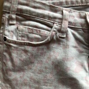 Pink cheetah print current Elliot jeans